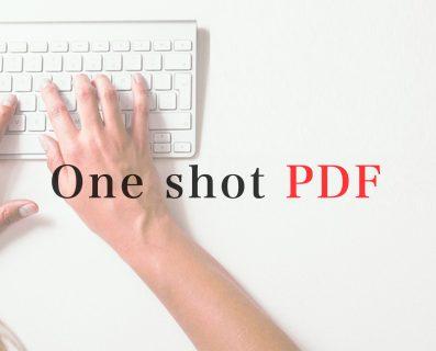 電子申請「One shot PDF」機能
