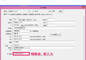 年度更新の電子申請で法人番号が反映されません。