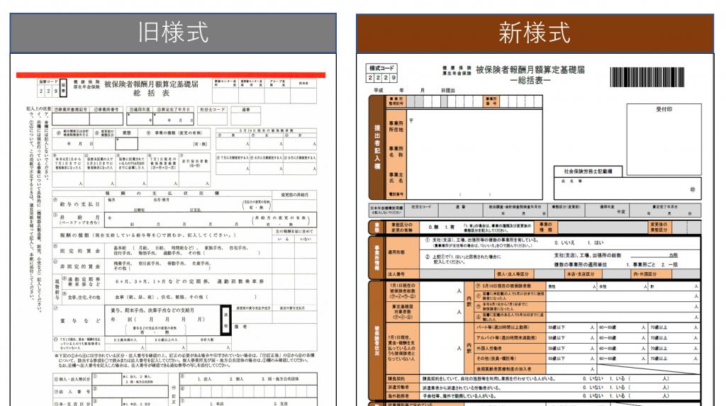 【算定基礎届の電子申請】新様式の総括表・附表は必要ですか?