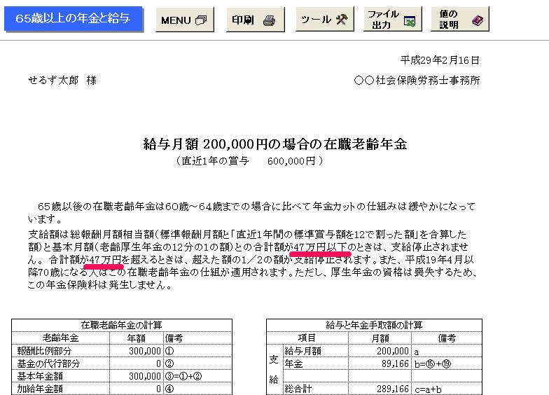 平成29年4月版にアップデートしても支給停止調整額が47万円になる